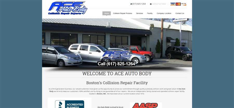 Auto Body Shop Web Design Company in New Hampshire