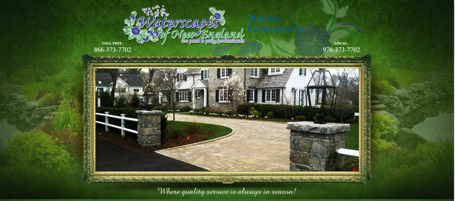 Landscaper Landscaping Waterscapes of New England Haverhill Newbury MA