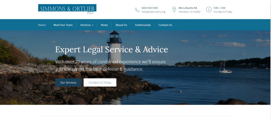 Simmons Ortlieb PLLC Hampton New Hampshire Business Law Personal Injury Attorneys